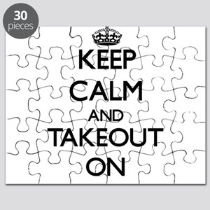 Keep Calm and Takeout ON Puzzle