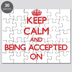 Keep Calm and Being Accepted ON Puzzle