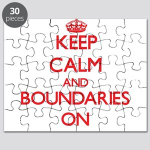 Keep Calm and Boundaries ON Puzzle