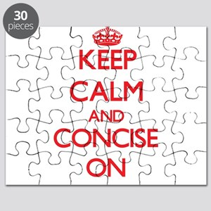 Keep Calm and Concise ON Puzzle