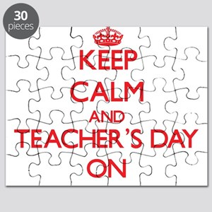 Keep Calm and Teacher'S Day ON Puzzle