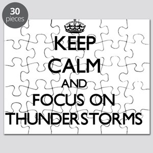 Keep Calm by focusing on Thunderstorms Puzzle
