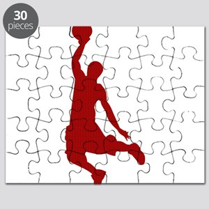 Basketball player Slam Dunk Silhouette Puzzle