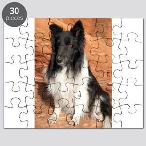 BLack and White Sheltie Puzzle