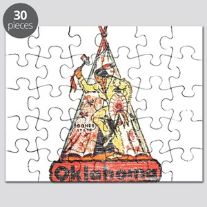 Vintage Oklahoma Indian Puzzle