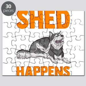 Cute & Funny Shed Happens Siberian Husk Puzzle