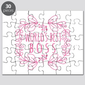 Cute Pink World's Best Boss Puzzle