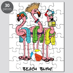 Flamingo Beach Bums Puzzle