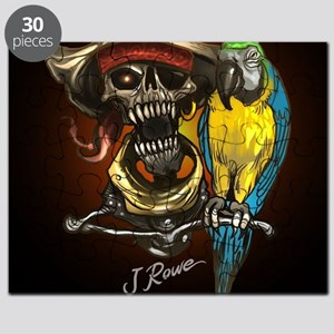J Rowe Pirate and Parrot Black Background Puzzle