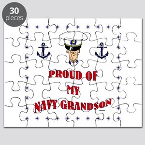 Proud Of My Navy Grandson Puzzle