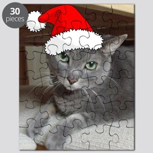 Christmas Russian Blue Cat Puzzle