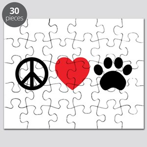 Peace Love Paw Puzzle