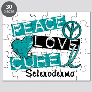 Scleroderma Peace Love Cure 1 Puzzle