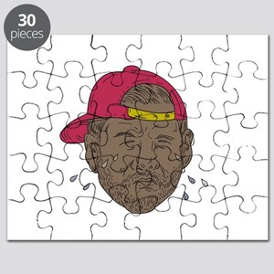 African-American Rapper Crying Drawing Puzzle