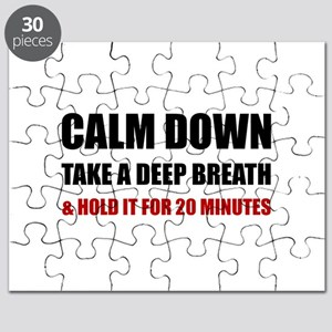 Calm Down Deep Breath Hold Minutes Puzzle