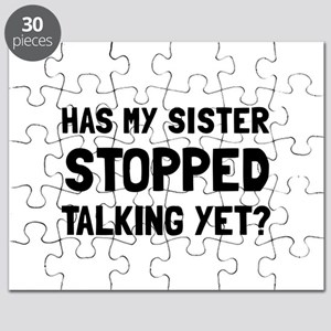 Sister Stopped Talking Yet Puzzle