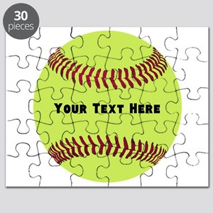 Customize Softball Name Puzzle