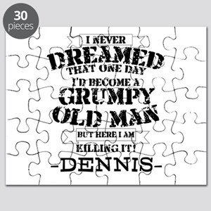 grumpy old man personalized Puzzle