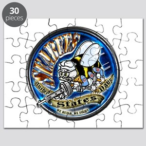 USN Seabees We Build We Fight Blue Puzzle