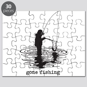 Personalized Gone Fishing Puzzle
