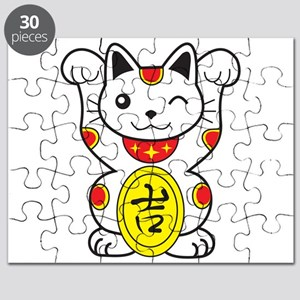 Maneki neko Lucky Cat Puzzle
