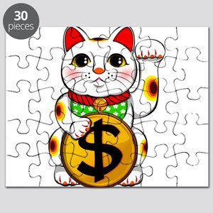 Dollar Lucky Cat Maneki Neko Puzzle