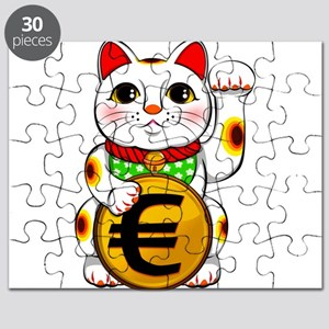 Euro Lucky Cat Maneki Neko Puzzle