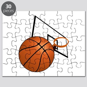 Basketball and Hoop Puzzle