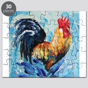 Rooster blue Puzzle
