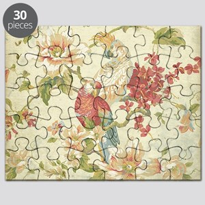 Beautiful vintage floral bird. Puzzle