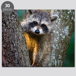 lrg_single_raccoon_clse_up Puzzle