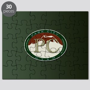 Park City Logo Medallion on Green Puzzle