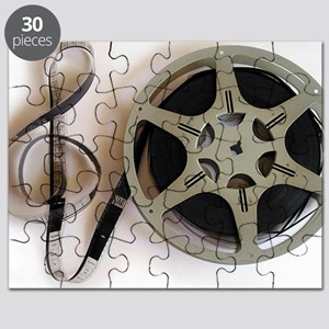 Clef and Film Reel by Leslie Harlow Puzzle