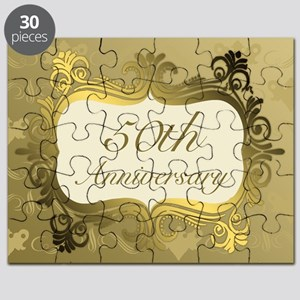 Fancy 50th Wedding Anniversary Puzzle