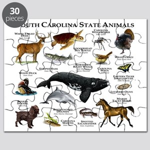 South Carolina State Animals Puzzle