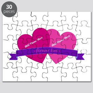 Forever Love Heart Names Puzzle
