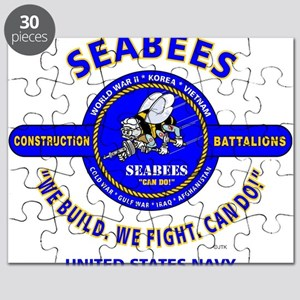 "SEABEES UNITED STATES NAVY ""WE BUILD, WE FI Puzzle"