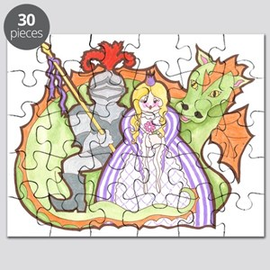 Knight, Princess And Dragon Puzzle