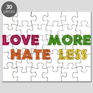 Love More Hate Less Puzzle