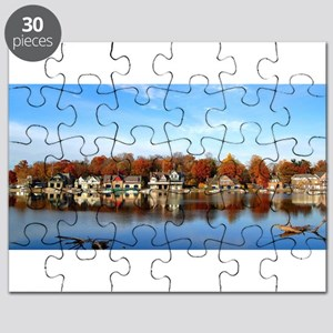 boat house row daytime Puzzle