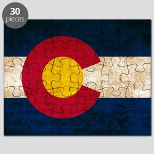 Vintage Flag of Colorado Puzzle