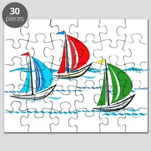 Three Yachts Racing Puzzle