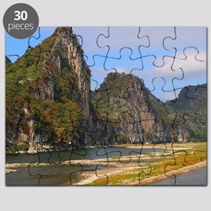 Mountains along Li River, China Puzzle