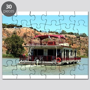 Houseboat on the Murray River, Australia Puzzle