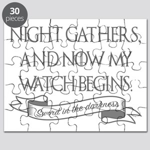 Night gathers and now my watch begins Game Puzzle