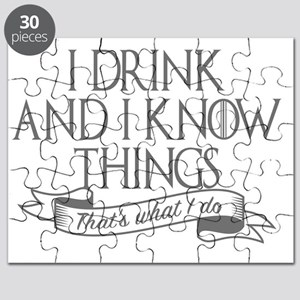 I drink and I know things Game of Thrones G Puzzle