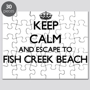 Keep calm and escape to Fish Creek Beach Wi Puzzle