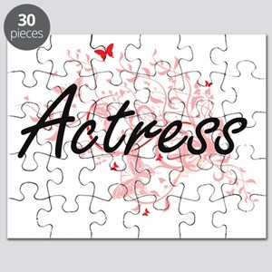 Actress Artistic Job Design with Butterflie Puzzle