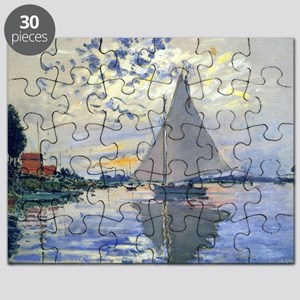 Claude Monet Sailboat Puzzle