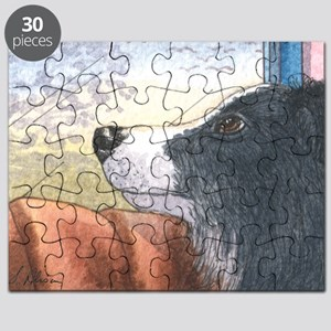 Border Collie dog waiting in car Puzzle